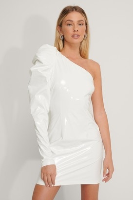 NA-KD Puff Shoulder Vinyl Dress
