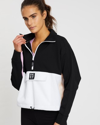 DKNY Flip Colour Blocked Half-Zip Pullover