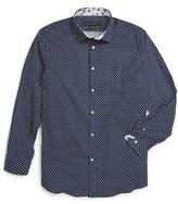 Report Collection Boy's Polka Dot Dress Shirt