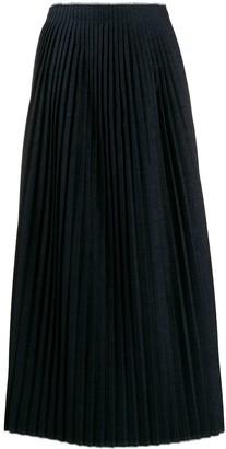 MM6 MAISON MARGIELA Long Pleated Knitted Skirt