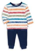 Splendid Baby's Reverse Stripe Top and Pants Set