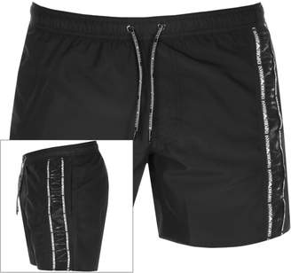Giorgio Armani Emporio Taped Swim Shorts Black