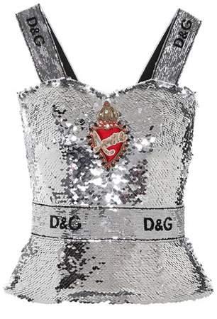 Dolce & Gabbana Embellished sequinned top