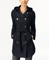 MICHAEL Michael Kors Hooded Double-Breasted Belted Raincoat