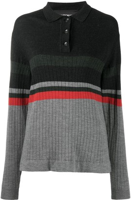 Han Kjobenhavn Striped Polo Jumper