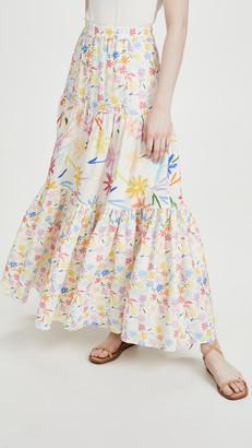 Mira Mikati Multi Flowers Print Maxi Skirt