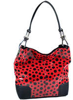 Dasein Red & Black Dot Glossy Hobo