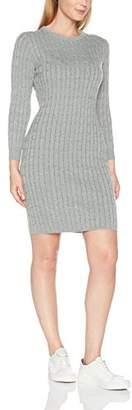 Gant Women's Stretch Cotton Cable Dress Light Grey Melange, (Size: M)