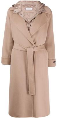 Peserico Hooded Mid-Length Coat