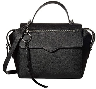Rebecca Minkoff Gabby Satchel (Black) Handbags