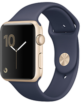 Apple Watch Series 1 42mm Gold Aluminium Case with Sport Band, Midnight Blue