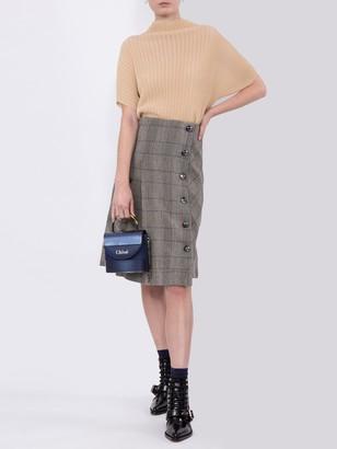 Chloé Grey Plaid Skirt