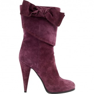 Christian Dior \N Purple Suede Boots