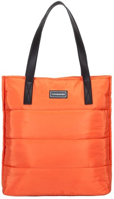 Consigned Garner Line Quilt Tote Bag Orange