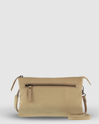 Cobb & Co - Women's Yellow Leather bags - Hervey Leather Double Pouch Crossbody - Size One Size at The Iconic