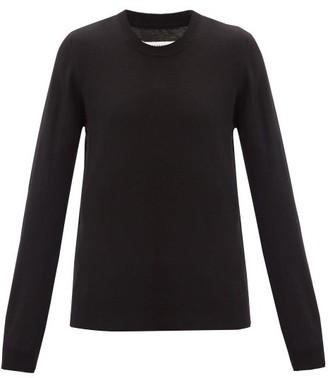 Maison Margiela Elbow-patch Quarter-zip Cotton-blend Sweater - Black