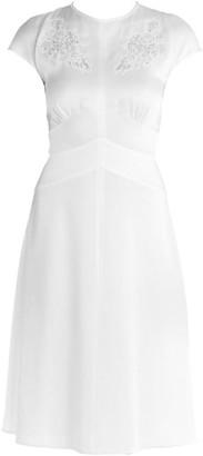 Fendi Lace Inset Cap Sleeve Dress