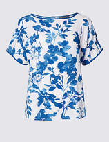 M&S Collection Floral Print Short Sleeve Shell Top