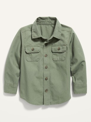 Old Navy Long-Sleeve Utility Shirt for Toddler Boys