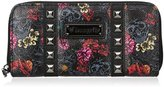 Loungefly LF Grey Skull with Roses Printed Wallet