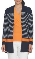 Chaus Nautical Breeze Striped Cardigan
