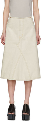 Maison Margiela Off-White Denim Skirt