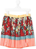 DSQUARED2 pleated skirt with print