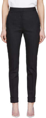 Stella McCartney Navy Wool Striped Trousers