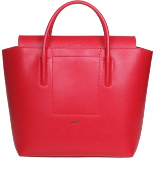 Furla Shopping Astrid M In Strawberry Color Leather