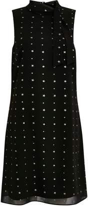 Wallis Black Star Print Glitter Swing Dress