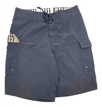 Burberry Blue Cotton - elasthane Swimwear