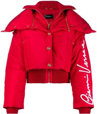Versace GV Signature puffer jacket
