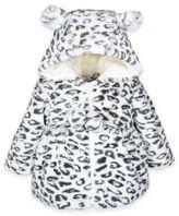 Widgeon Leopard Hooded Jacket with 3D Ears in Ivory/Black