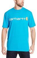 Carhartt Men's Signature Logo Short Sleeve Midweight Jersey Tshirt Graphic