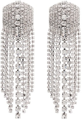 Alessandra Rich Square Cascade Crystal Earrings