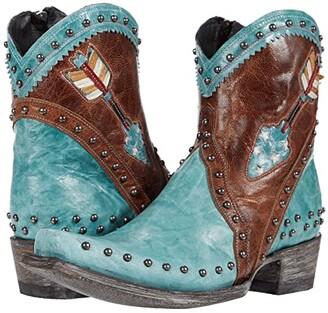 Old Gringo Desert Dreamer Zip (Sky Blue) Women's Boots