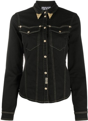 Versace Jeans Couture Metal-Collar Denim Jacket