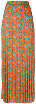 House of Holland pleated maxi skirt - women - Polyester - 6