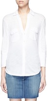 James Perse Ribbed side slub jersey shirt