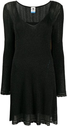M Missoni Ribbed Knit Mini Dress
