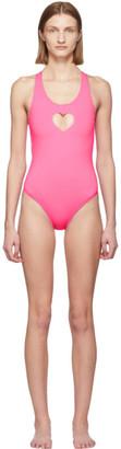 Vetements Pink Heart One-Piece Swimsuit