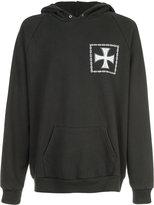 Enfants Riches Deprimes cross print hoodie - unisex - Cotton - M