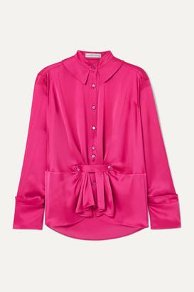 Palmer Harding palmer//harding - Rise Satin Shirt - Pink