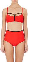 Chromat Women's Yoko Halter Bikini Top-BLACK, RED