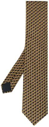 Hermes 2000's Pre-Owned Geometric Print Tie