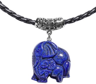 Shop Lc Stainless Steel Lapis Lazuli Pendant Necklace Size 18 Inch Ct 30 - Size 18''
