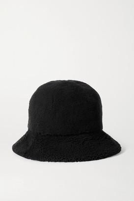 Bogner Mara Appliqued Shearling Bucket Hat - Black