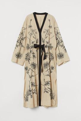 H&M Embroidered Kaftan Dress