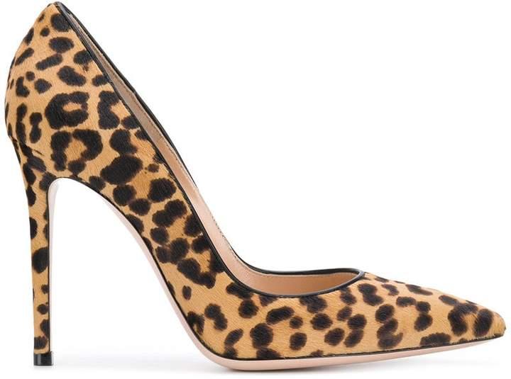 Gianvito Rossi leopard print pumps