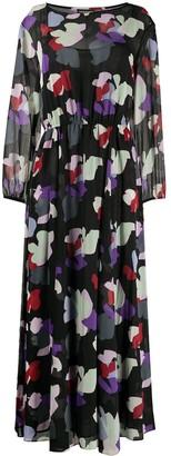 Emporio Armani floral print maxi dress